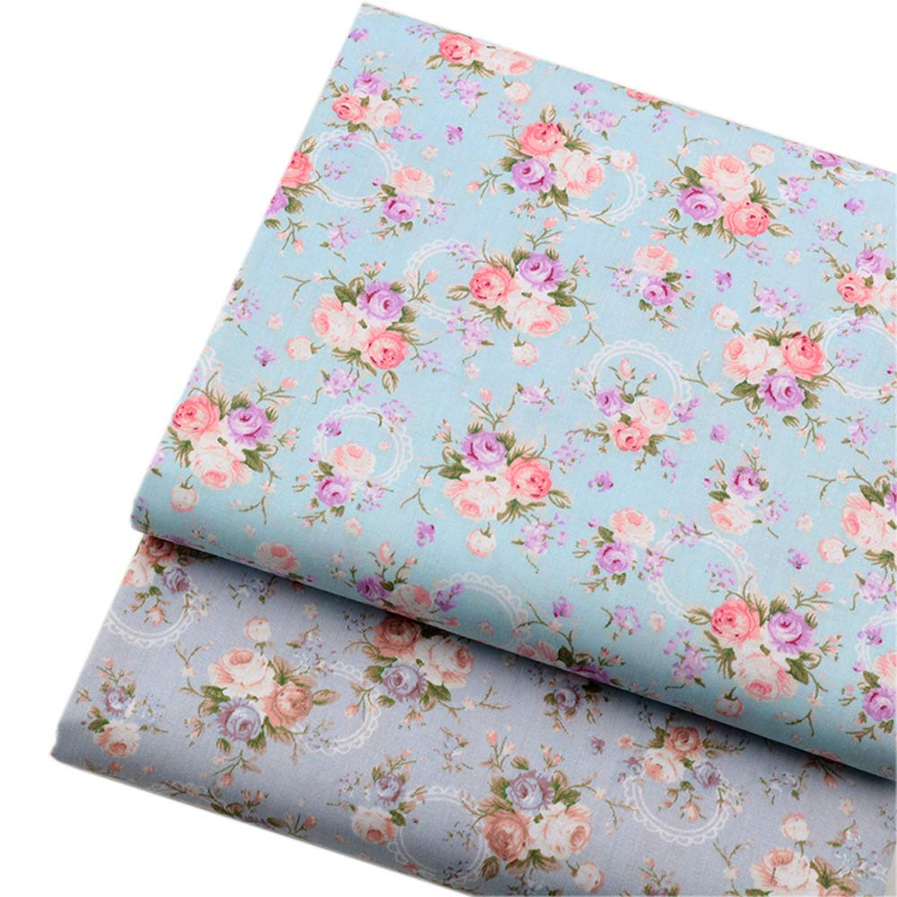 Vintage Floral Fat Quarters Fabric Bundles, Precut Quilting Fabric for Sewing,18''x22'' by Hanjunzhao (Image #4)