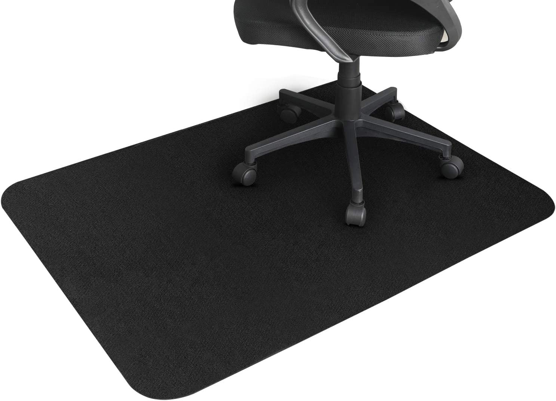 사무실 의자 매트한 나무 바닥 48×36 OFFICE HOME 바닥 보호자는 자 매트 아래 데스크 매 회전 의자 및 컴퓨터 책상 반대로 미끄러짐 비 곡선 검정