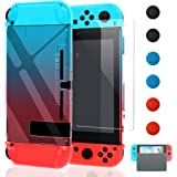 Dockable Case Compatible with Nintendo Switch,FYOUNG Seperatable Protective Shell Cover Replacement for Nintendo Switch and R