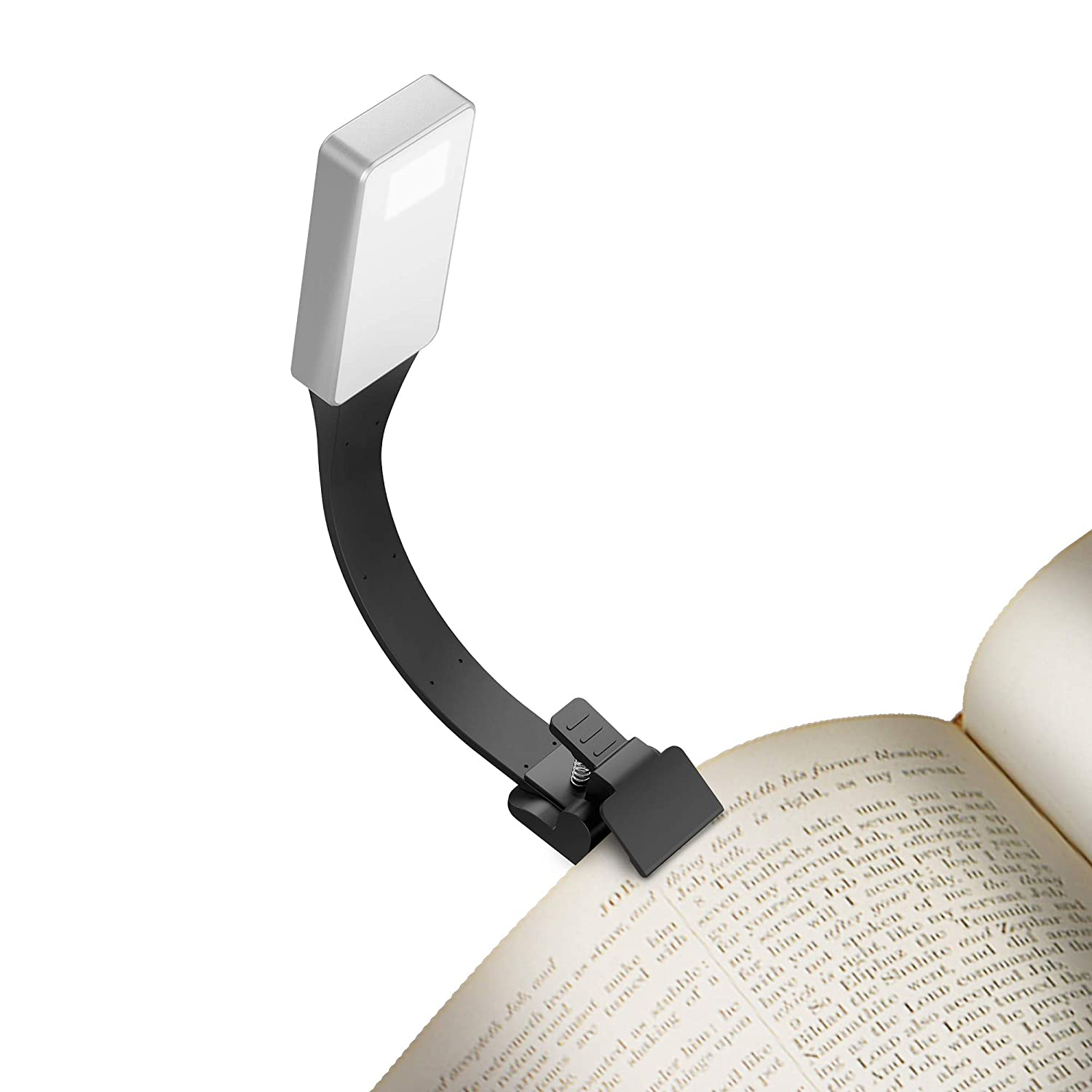 Simpeak Book Light, Clip on Warm Led Reading Light USB Rechargeable, 50 Lumens 3 Brightness Level Reading Lamp for  Kindle/eBook Reader/Books / iPad