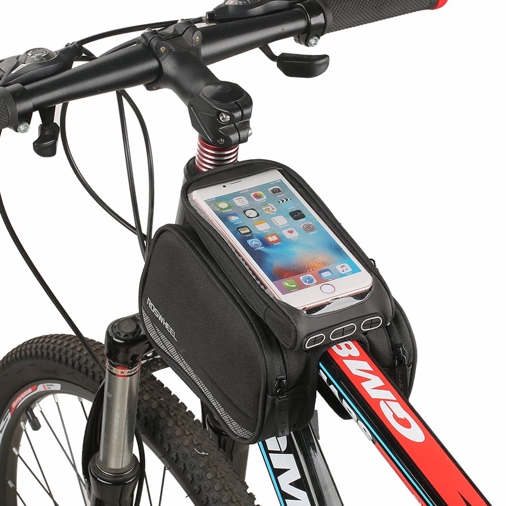 Bolsa de Bicicleta, Spalyer Bolsa Móvil para Tubo Superior de Cuadro de Bicicleta, Bolso