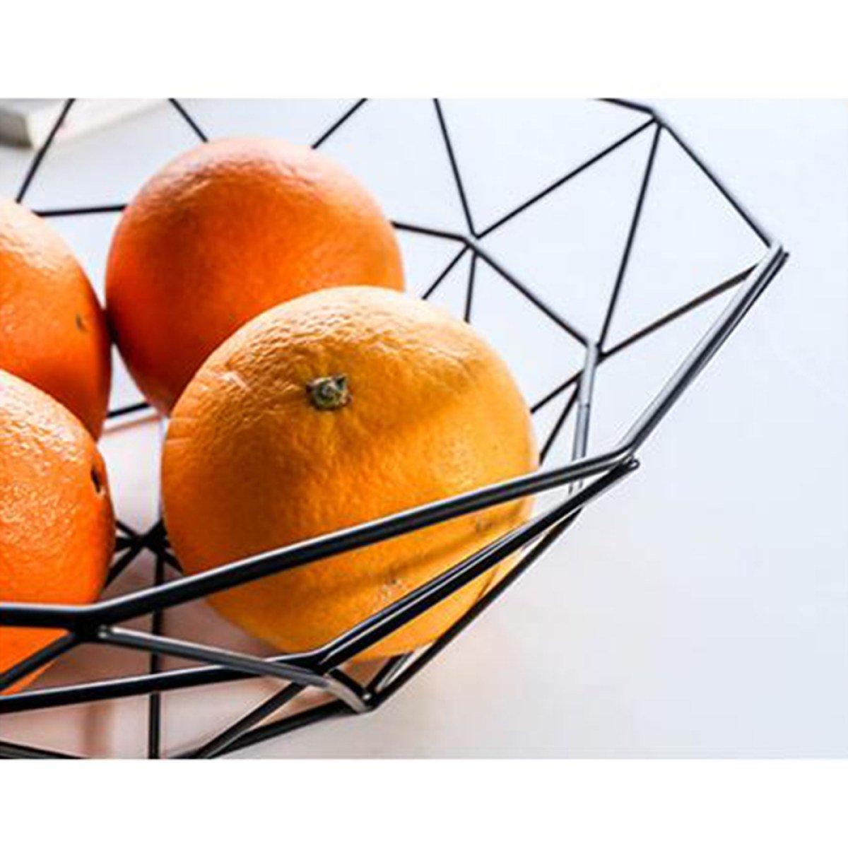 ANHPI Bandeja De Fruta por FOKN Simple Sala De Estar Creativa Cesta De Fruta De Hierro Forjado Bocadillo De Aperitivo De Snack De Fruta Seca,B: Amazon.es: ...
