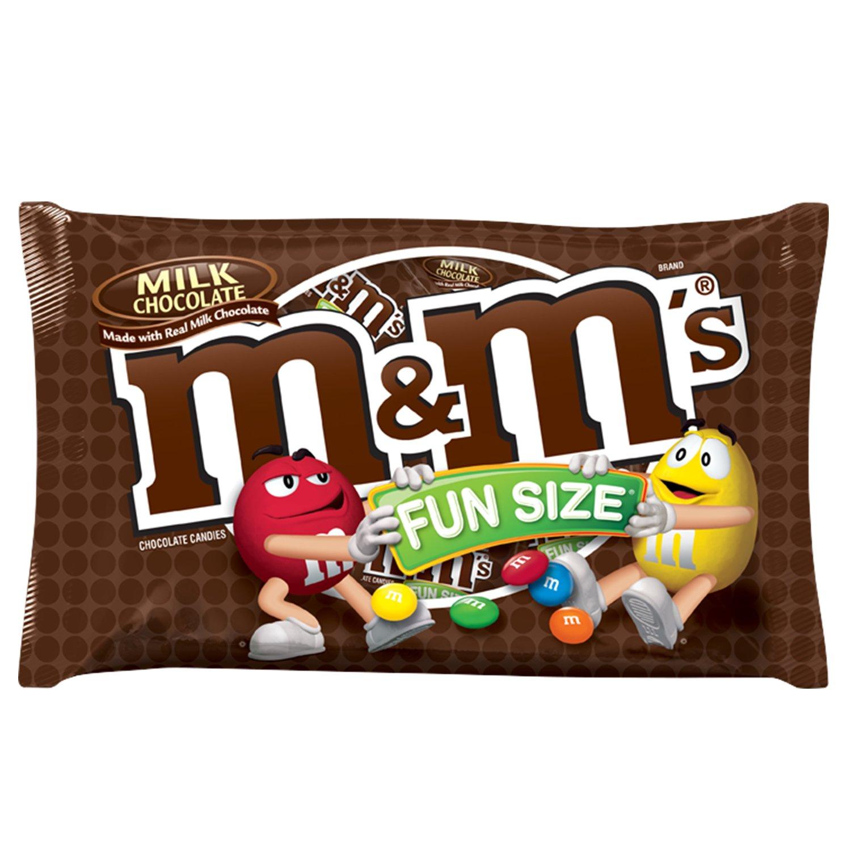 M&M'S Milk Chocolate Candy Fun Size 10.53-Ounce Bag