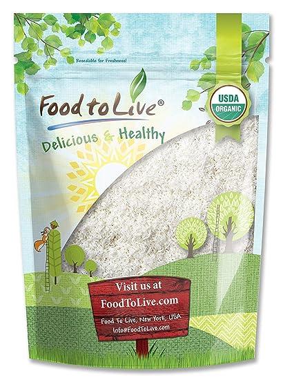 Food to Live Coco rallado Bio (Eco, Ecológico, Cruda, grano integral,