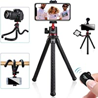 Tripod for iPhone, COMAN Flexible Camera Tripod, Hidden Phone Tripod Mount with Cold Shoe, Waterproof Tripod Stand for…