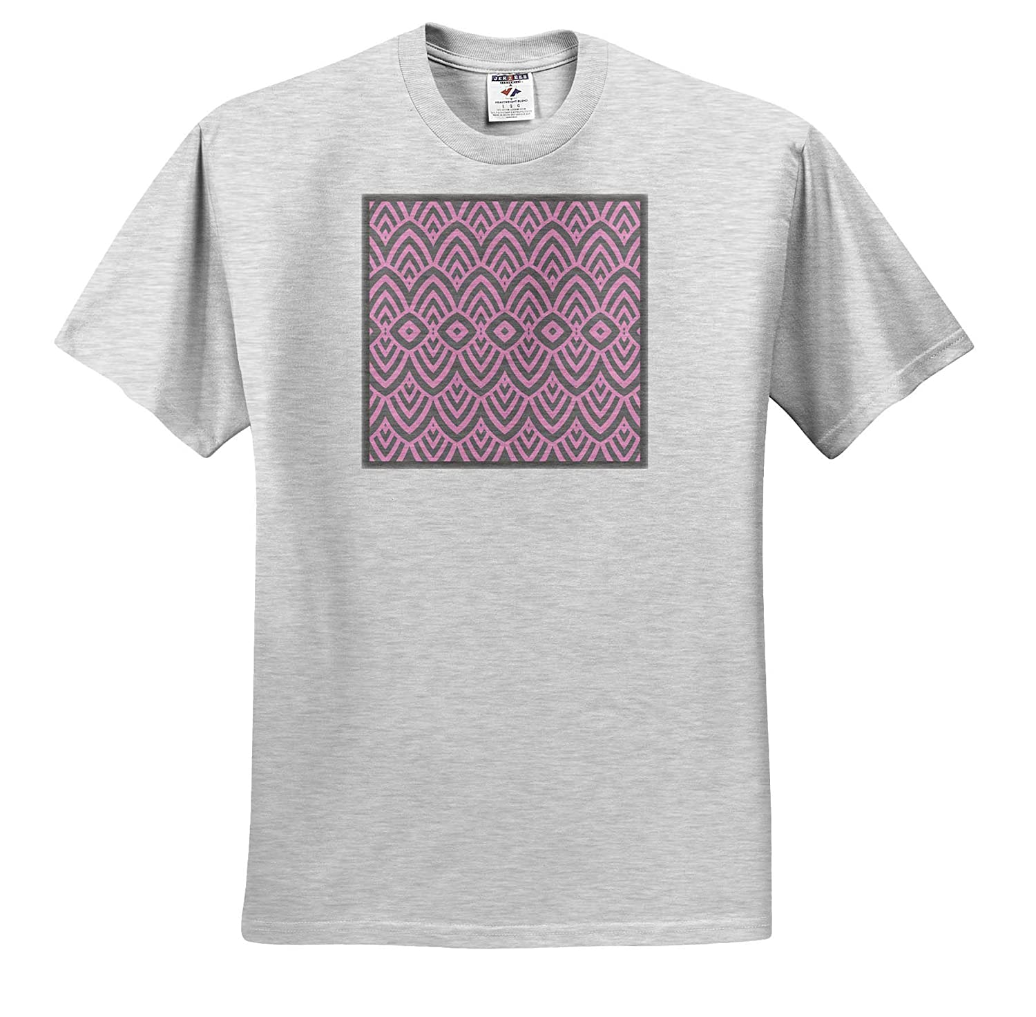 Allover Pattern in Pastel Shades of Pink and Grey T-Shirts 3dRose Andrea Haase Allover Pattern