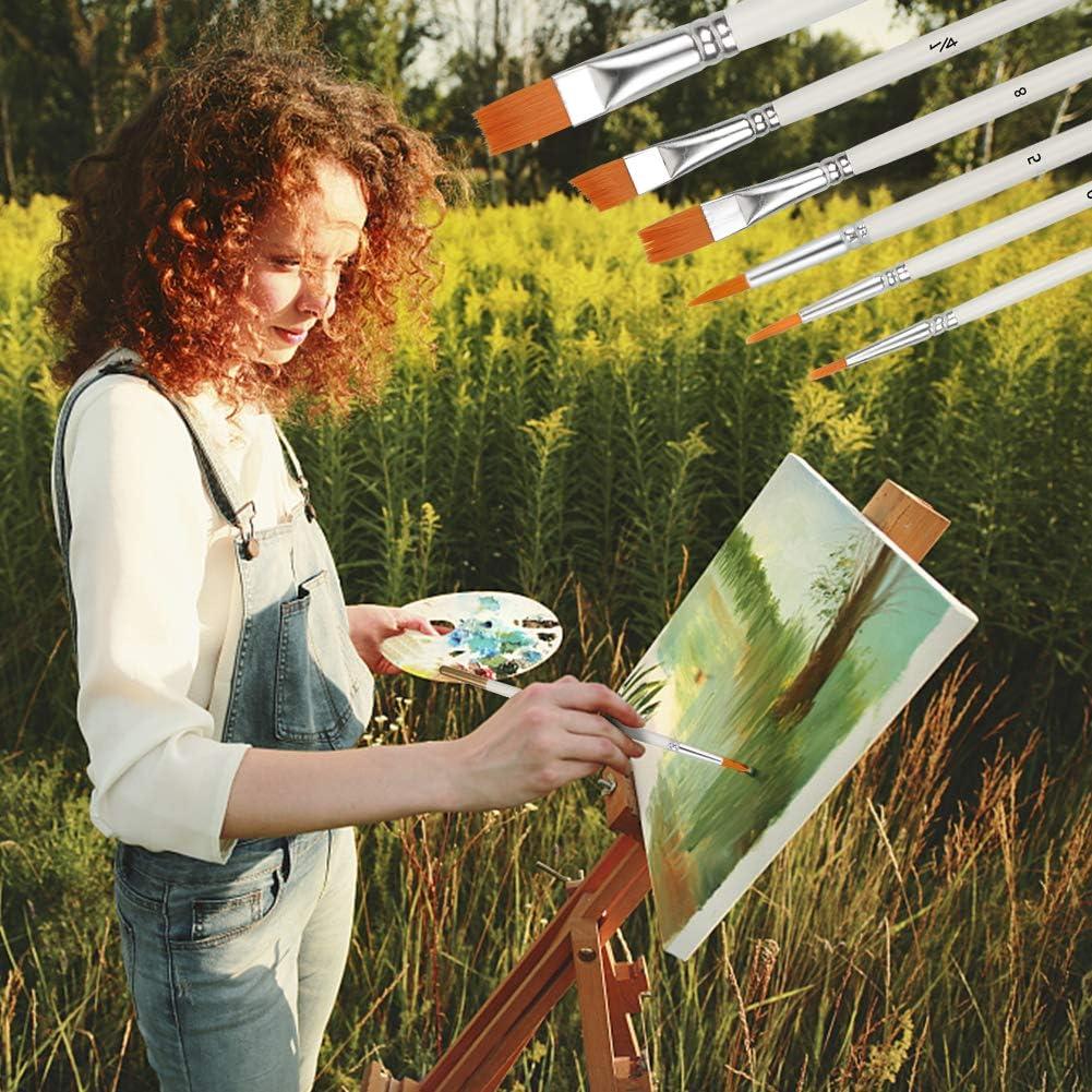 5 Acuarelas Pinceles de Artista Profesional Pinceles de Pintura Uso M/últiple para Pintura Gouache Aceite Juego de 8 Para Acuarela