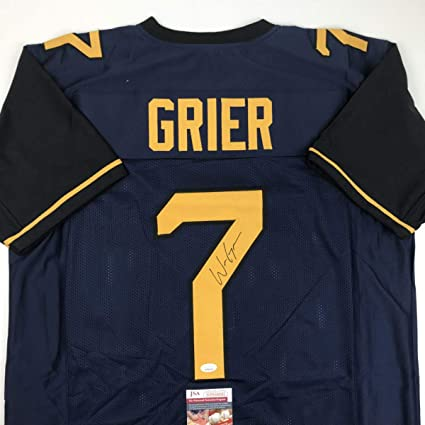 1210234fc Autographed Signed Will Grier West Virginia Blue College Football Jersey  JSA COA