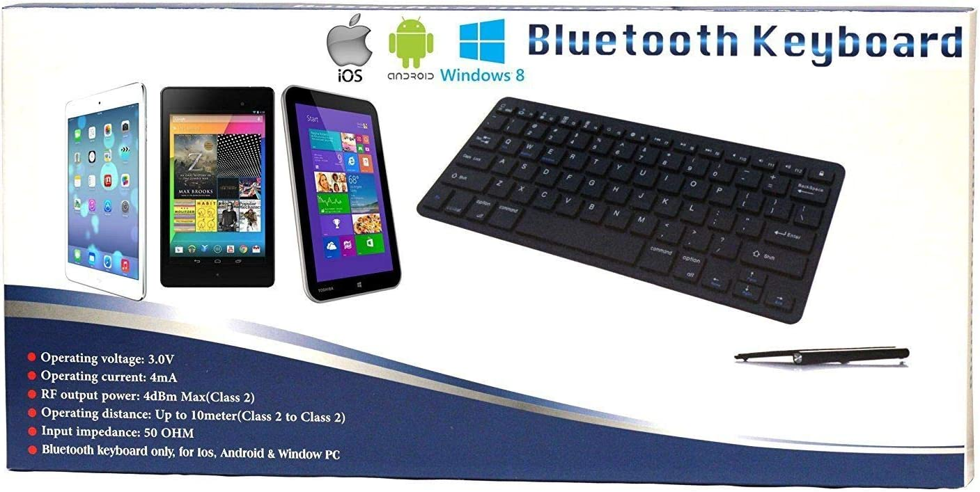 Navitech Black Wireless Multi OS Keyboard Compatible with All Android//Windows /& iOS Tablets Including The OYYU 3G 7 inch Odys Space 7 inch