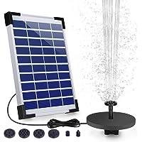 AISITIN Solar Fuente Bomba 5.5W Fuente de Jardín Solar Batería Incorporada con 6 Boquillas para Pequeño Estanque Aves…