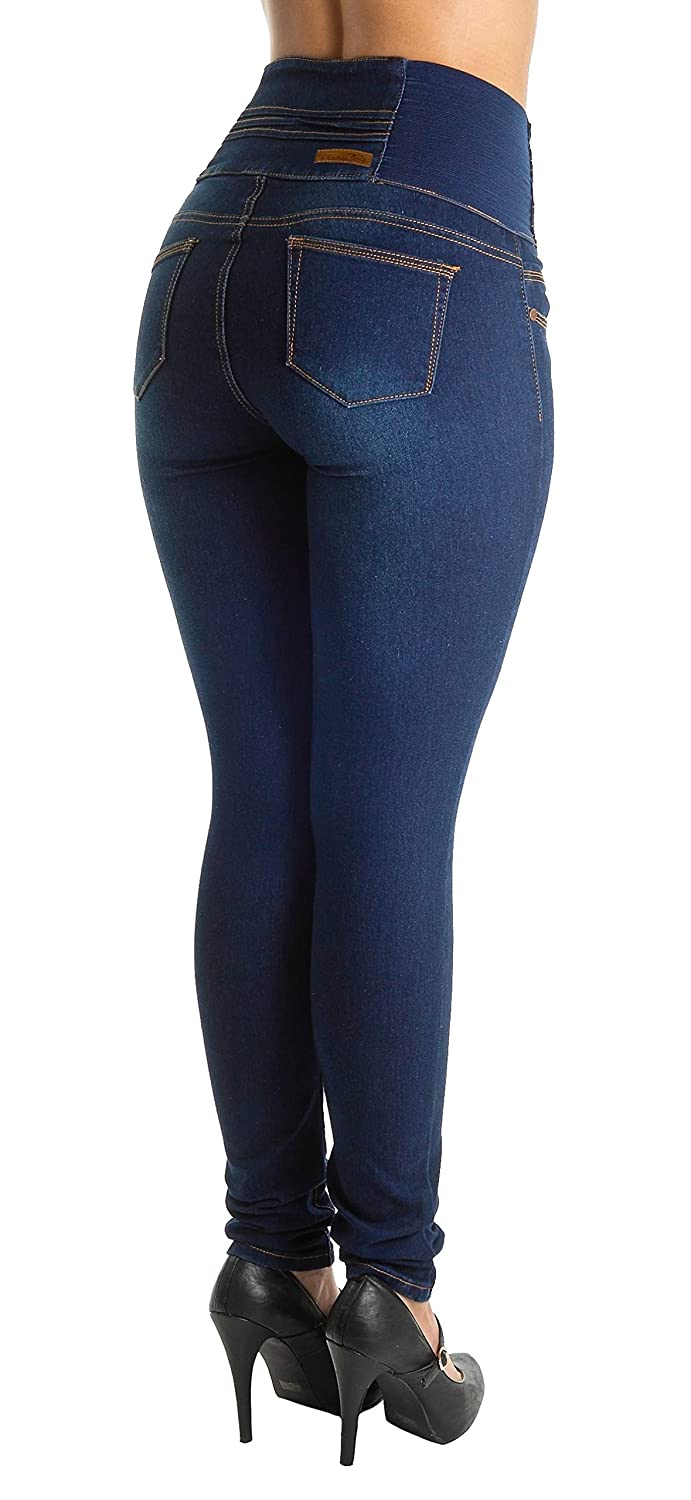 Plus//Junior Size Colombian Design Butt Lifting High Waist Skinny Jeans