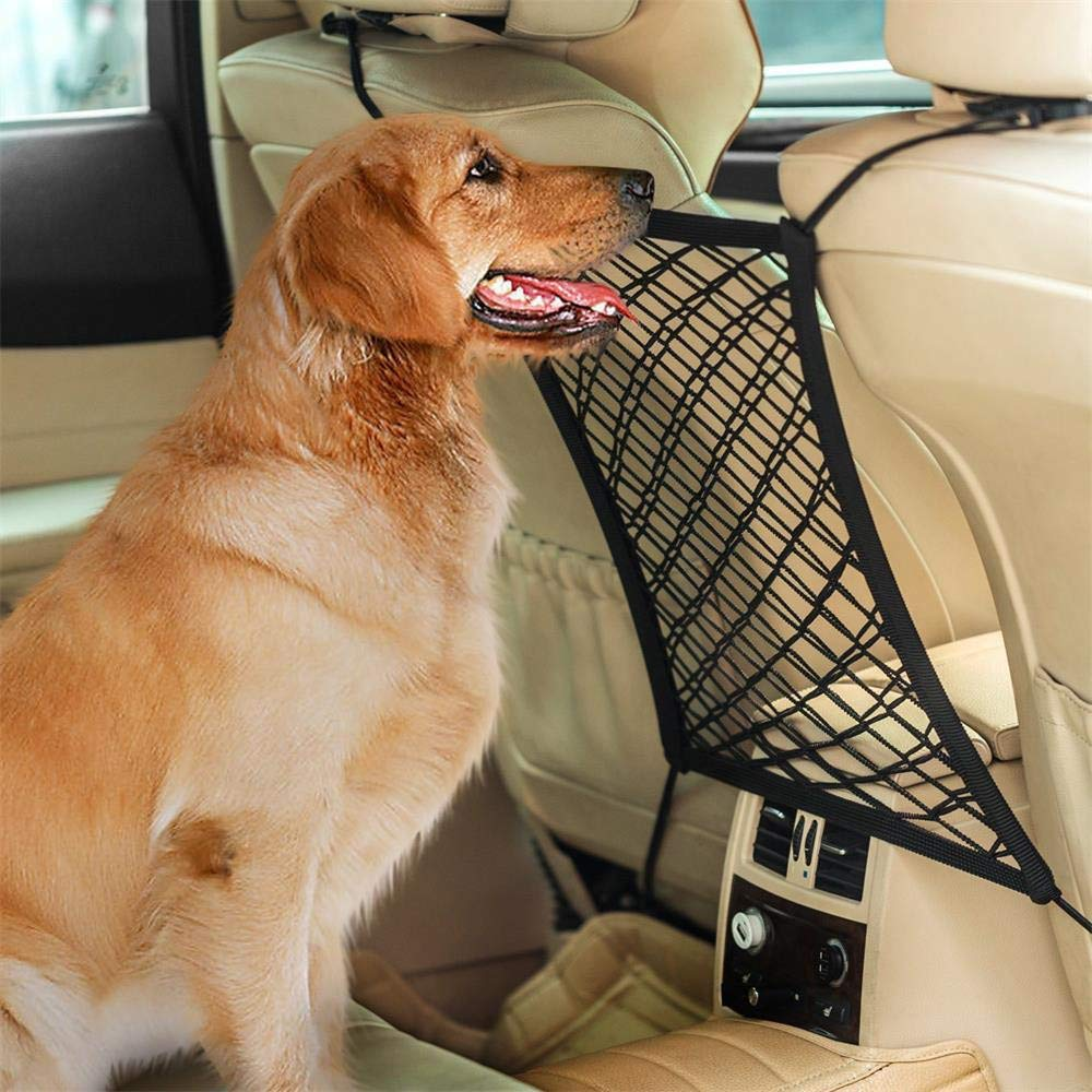 Car Seat Net Organizer Auto Backseat Barrier Net Storage,salaheiyodd Universal Car Armrests Seats Storage Net Stretchy Fine Mesh Net Disturb Stopper from Children and Pets