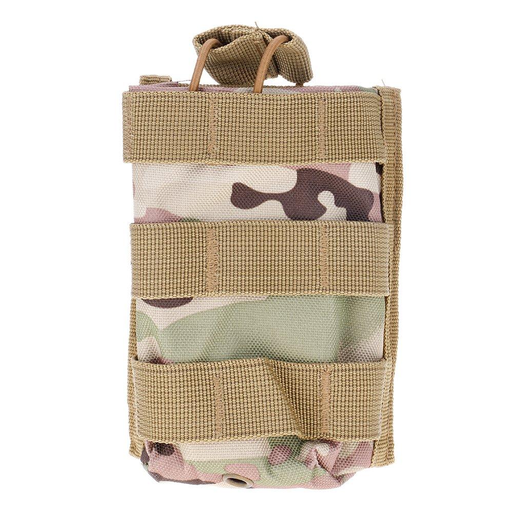 ?Sac Tactical unique Mag Magazine poche ouverte haut pour M4/M16 5,56.223 walkie-talkie interphone camouflage CP