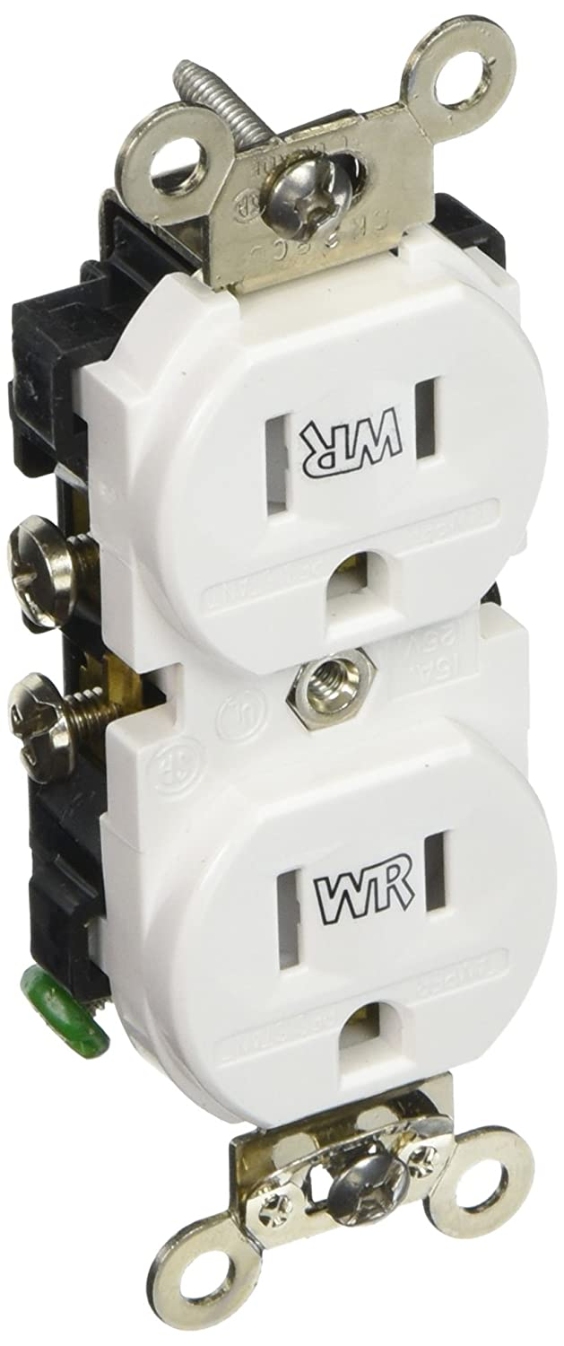 Leviton 131 Twr15 00w 15a Weather Resis Outlet White Electrical Residential Wiring Quiz Outlets