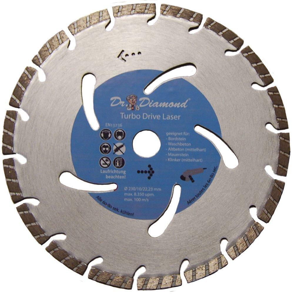 Diamante (hormigón 230 Turbo Laser - Disco de diamante para hormigón waschbeton altbeton Muro piedra y ladrillo y 5000-xl.