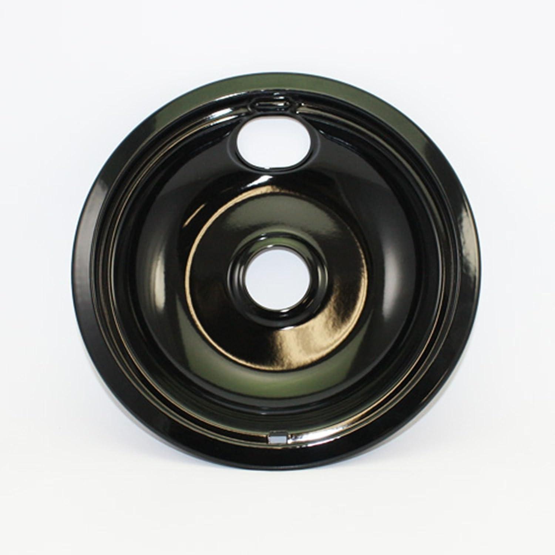 "Stove/Oven/Range 8"" Black Porcelain Drip Bowl - 93169205B , W10290350"