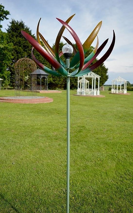 Black Country Metal Works Double Flower Metallic Bronze Wind Spinner