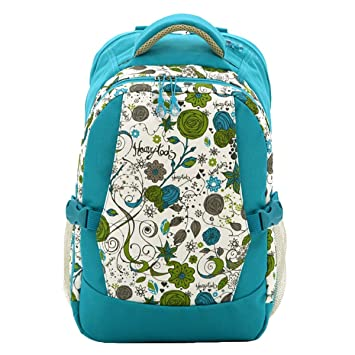 Multifunction Large Capacity Mummy Bag Baby Diaper Nappy Bag Backpack Green Flowers Pattern