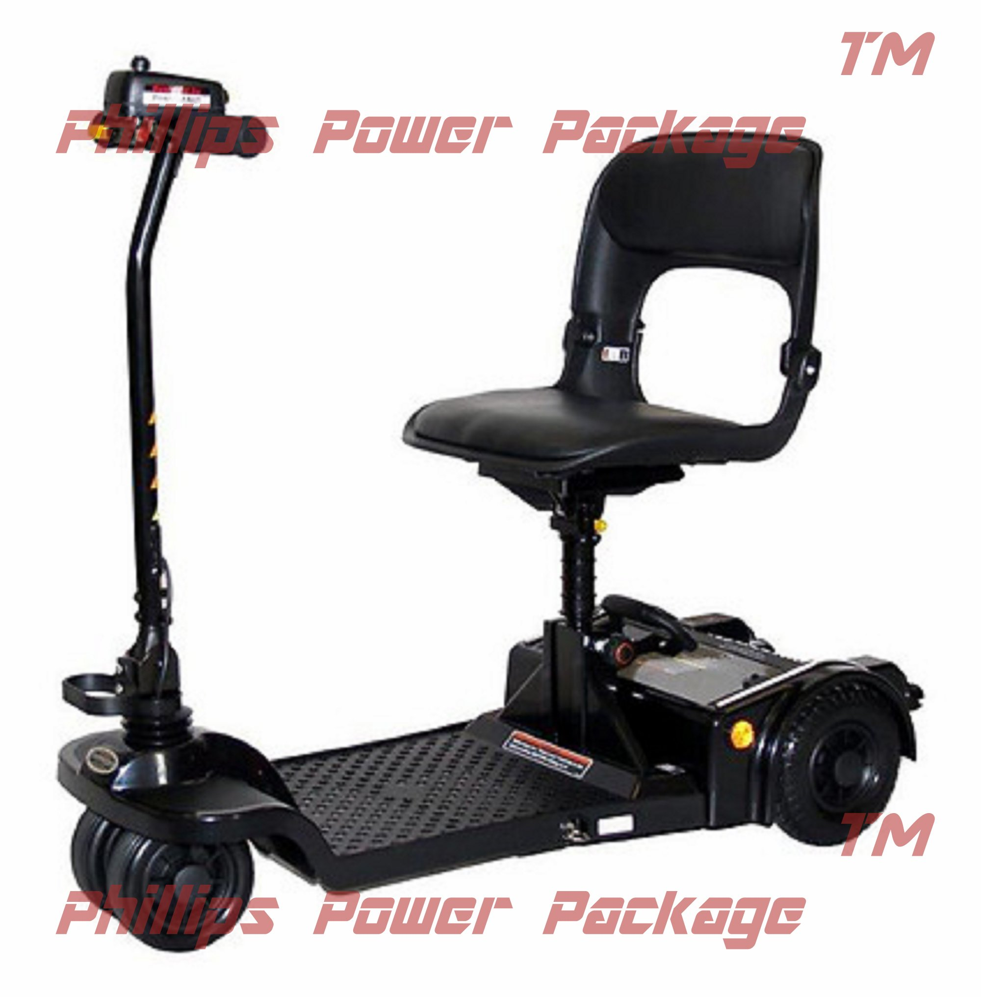 Shoprider - Echo Folding - Travel Scooter - 4-Wheel - Black - PHILLIPS POWER PACKAGE TM - TO $500 VALUE