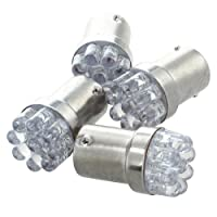 TOOGOO(R) 4x 1156 BA15S 9 LED Feu de stationnement de voitures Feu de signalisation Clignotant Feu arriere Ambre 12V