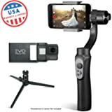 EVO SHIFT 3 Axis Handheld Gimbal for iPhone & Android Smartphones | Black | 1 Year US Warranty | Bundle Includes: Shift + GoPro Adapter Plate + Tripod