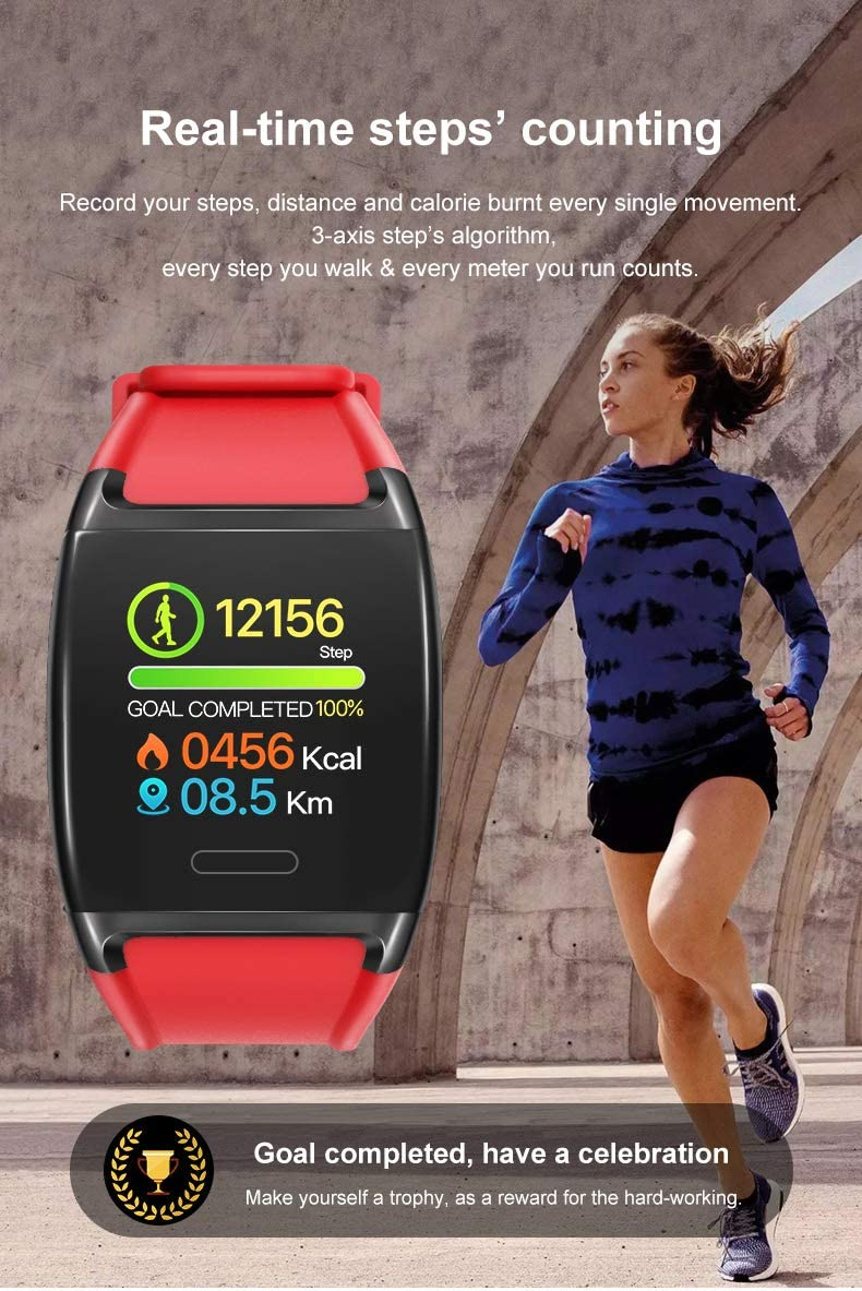 HalfSun Fitness Tracker, Activity Tracker Fitness Watch with Heart Rate Monitor, Blood Pressure Monitor, IP67 Waterproof Smart Watch with Sleep Monitor, Calorie Counter, Pedometer for Kids Men Women : Sports & Outdoors