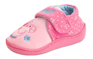 4b8e6de4d08a Girls Peppa Pig Slippers - with Touch Fastening (9 Child UK)  Amazon ...