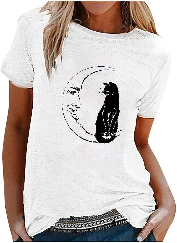 Camisetas de Manga Corta con Cuello Redondo para Mujer, Camisetas con Estampado Creativo, Camiseta Informal, Camisetas, Sudaderas, Ropa de Verano