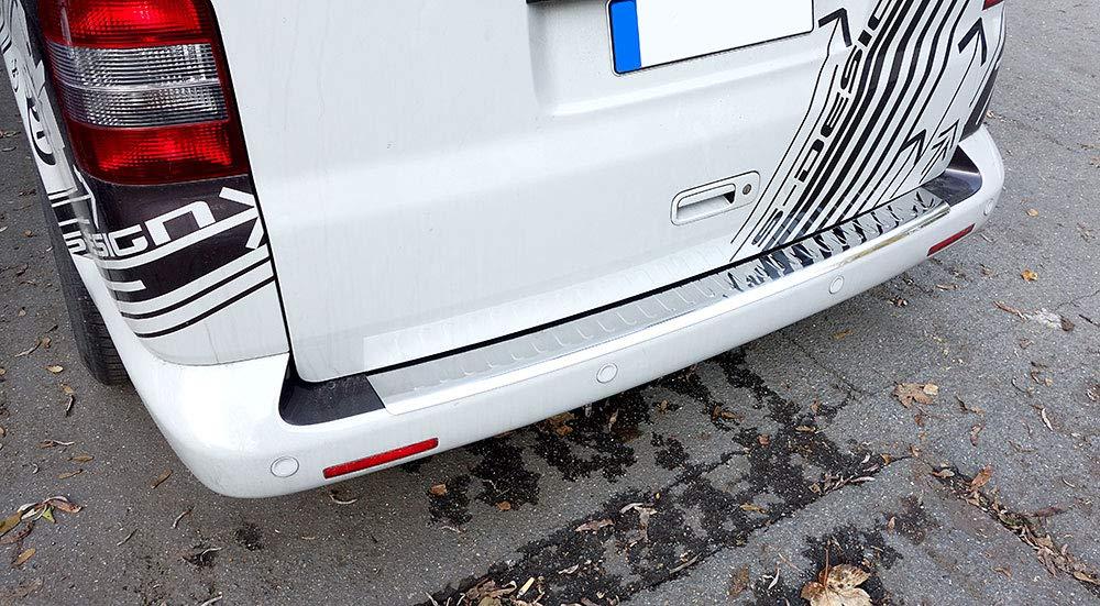 Fahrzeugspezifischer Ladekantenschutz mit Abkantung V2A Edelstahl Chrom