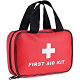 SlimK Small First Aid Kit for Car Travel & Outdoor Emergency Like Minor Cuts, Scratch, Burns & Sprain - 112 Pieces of Premium