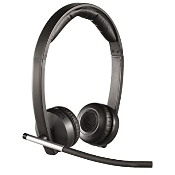 Logitech H820e - Auriculares inalámbricos (Wi-Fi, micrófono, control integrado, 103 dB, alcance 100 m) negro: Logitech: Amazon.es: Informática