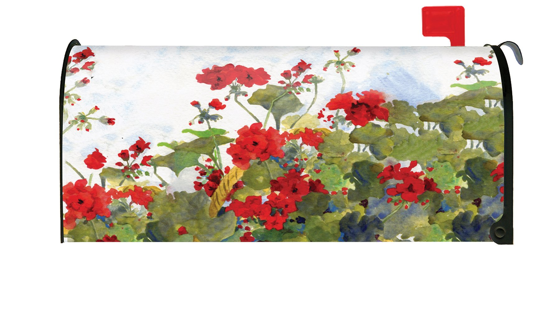 Toland Home Garden Geranium Basket Spring Summer Flower Magnetic Mailbox Cover