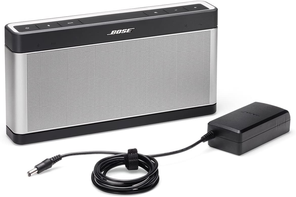 Bose SoundLink III Bluetooth Speaker with Soft Cover Bundle Gray