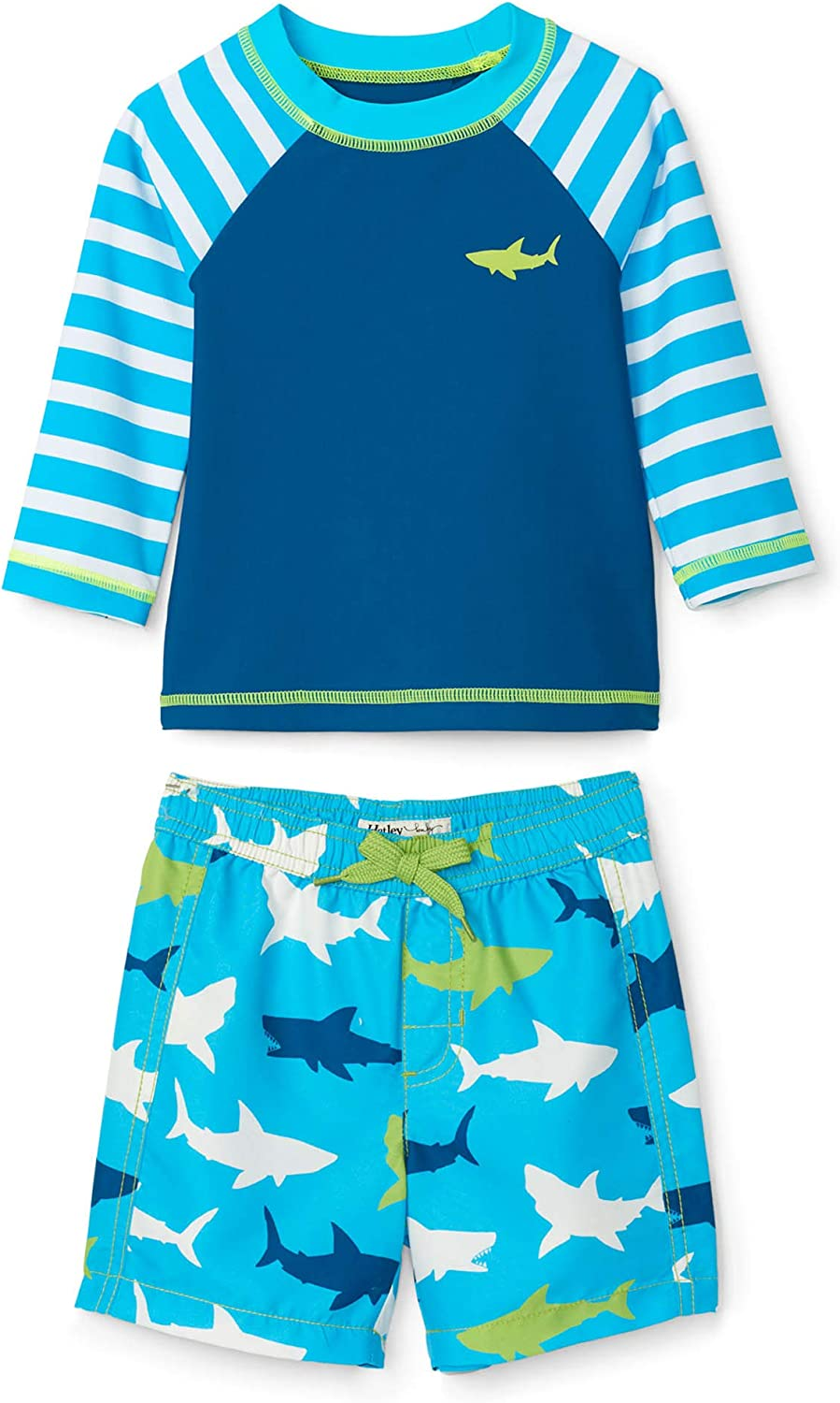 Hatley Boys' Rash Guard Swimsuit Sets