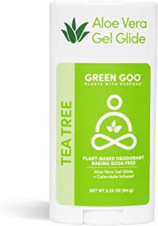 product image for Green Goo Natural Deodorant Gel for Men and Women, Tea Tree, Oval, 2.25 Ounce