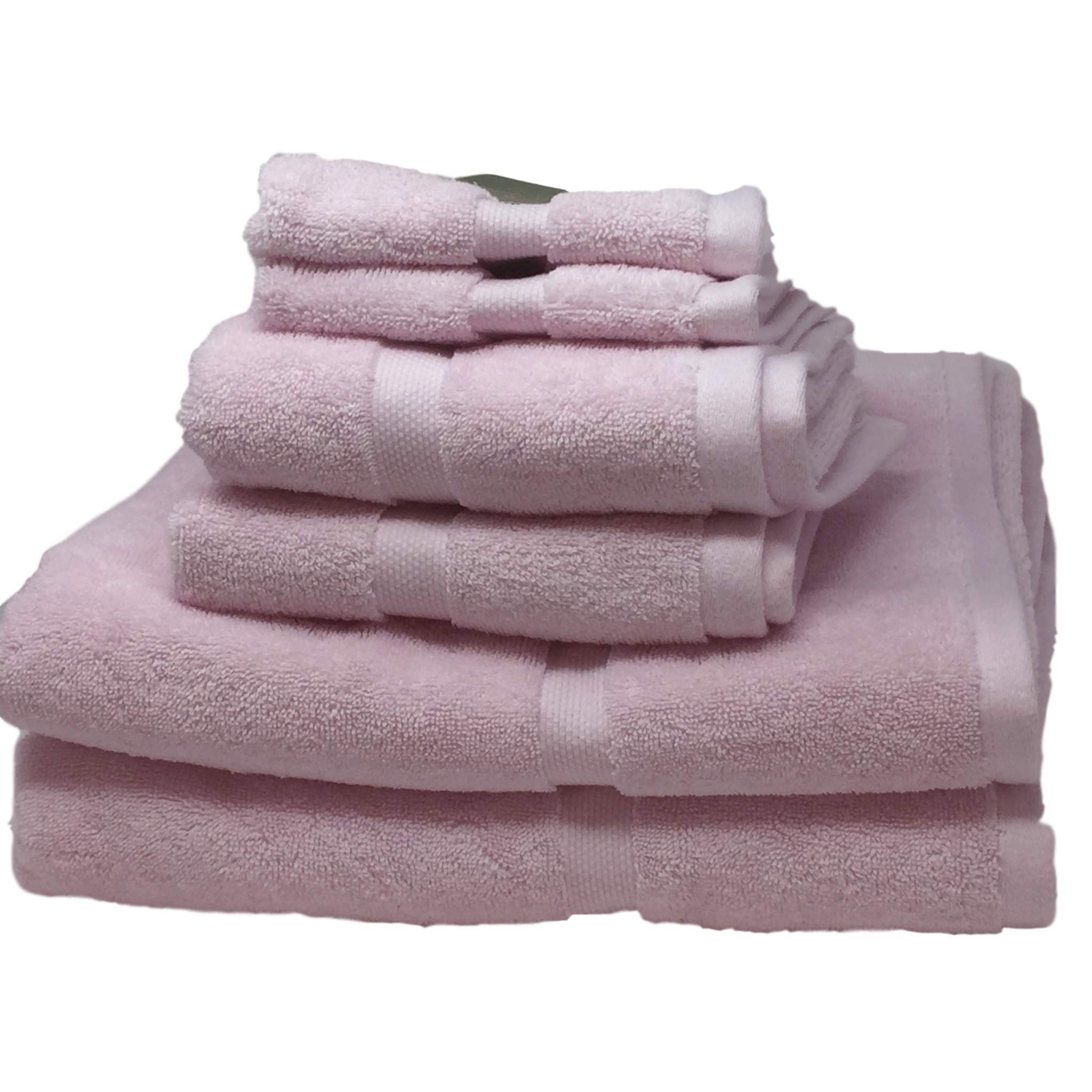 Kate Spade Light Pink Towel 6 Piece Set Bundle - 2 Bath Towels, 2 Hand Towels, 2 Washcloths
