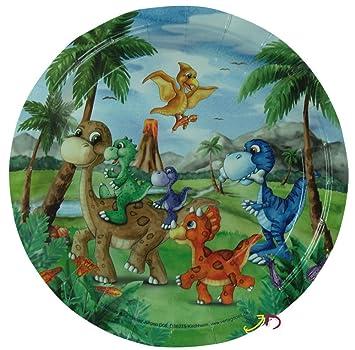 6 - Juego de platos * * dinosaurios para fiestas de ...
