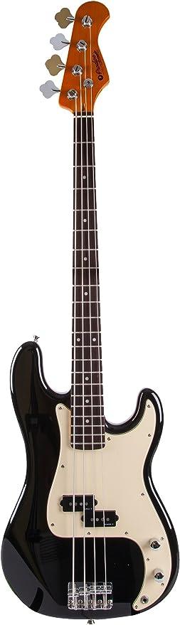 Prodipe PB80 RA - Guitarra de bajo (4 cuerdas), color negro ...