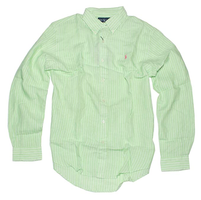 1fd6b22f4e8dd Polo Ralph Lauren Men s Classic-Fit Striped Linen Sport Shirt