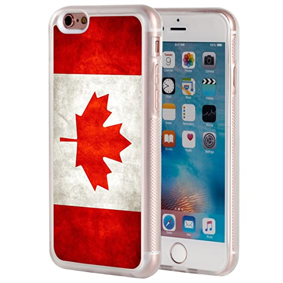 efd435045b0 iPhone 6 Case,iPhone 6 Case,AIRWEE Clear Bumper Canada Canadian Flag Grunge  Pattern