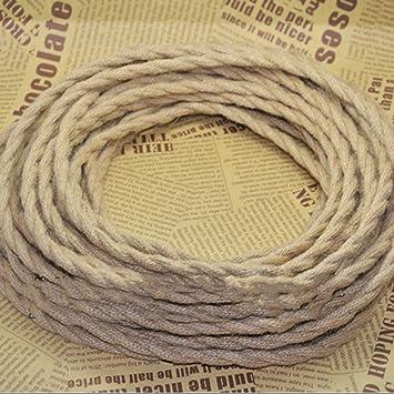 Leinen Electrical Wire, 5 m 3 Kerne Vintage Stoff Kabel Kupfer Seil ...