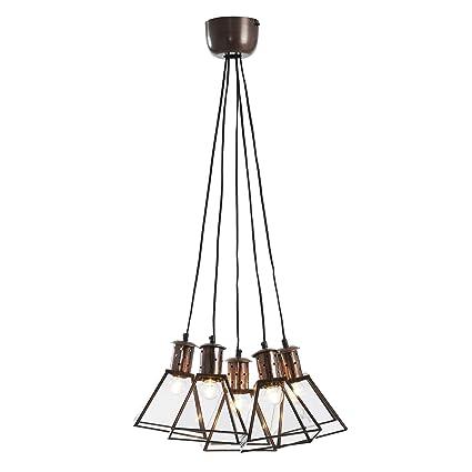 Kave Home Lámpara de techo Dial, cobre: Amazon.es: Hogar