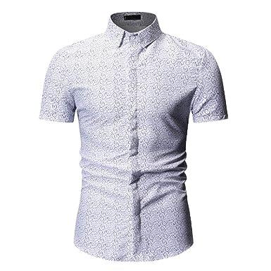 célèbre marque de designer dernière mode info pour LIGEsayTOY Chemise à Etoile Homme Manches Courtes Slim Fit ...