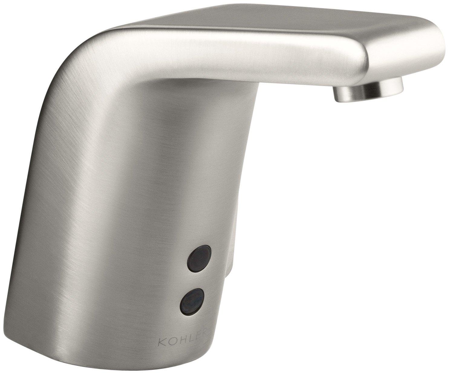 KOHLER K-13462-VS Sculpted Touchless Ac-Powered Deck-Mount Faucet ...
