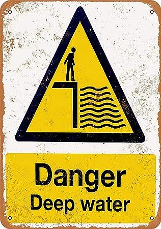 Toddrick Danger Deep Water Cartel de Chapa Estilo Vintage ...