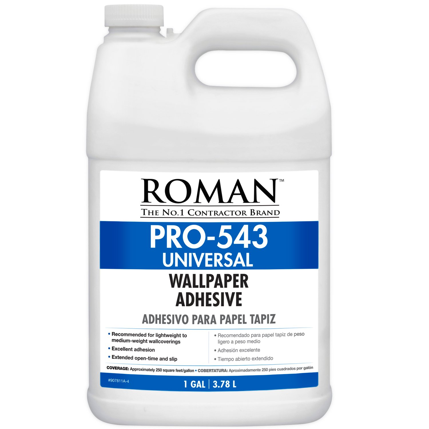 Roman 207811 PRO-543 Universal Wallpaper and Border Adhesive with Applicator, 1 gal by Golden Harvest