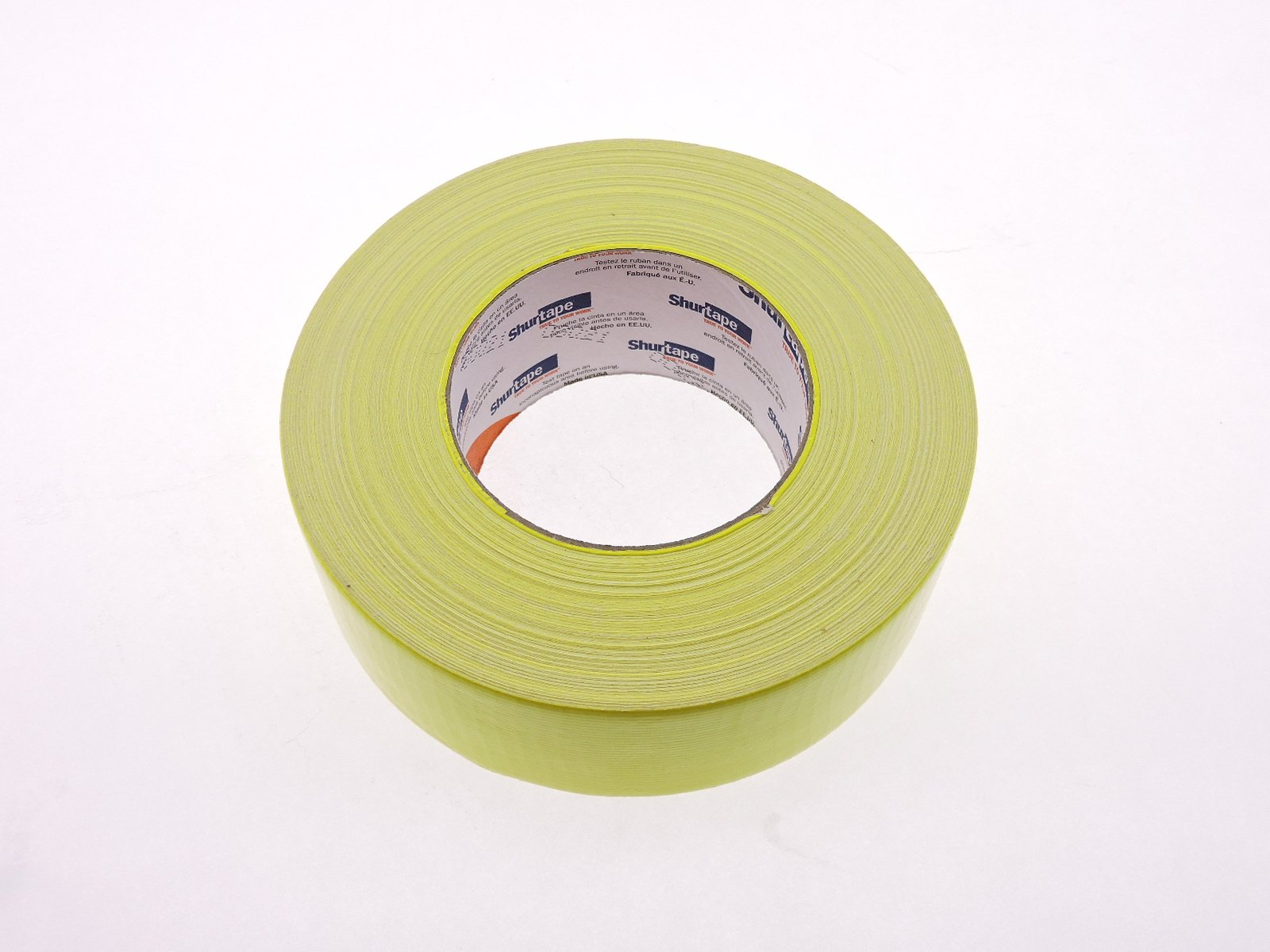 PC-619 Shurtape 2'' Yellow Bright Fluorescent Neon Colored 9 Mil Cloth Duct Tape Water UV Tear Resistant 60yd USA Made Colors High Visibility Safety Warning Marking by Shurtape (Image #2)