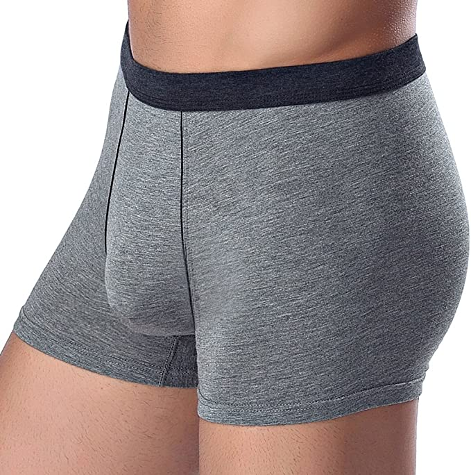 aoqininu Mens Seamless Comfort Soft Cotton Boxer Brief with Soft Waistband