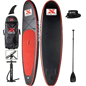 "XTERRA 10' Inflatable Paddle Board (5.5"" Thick) Complete iSUP Package"