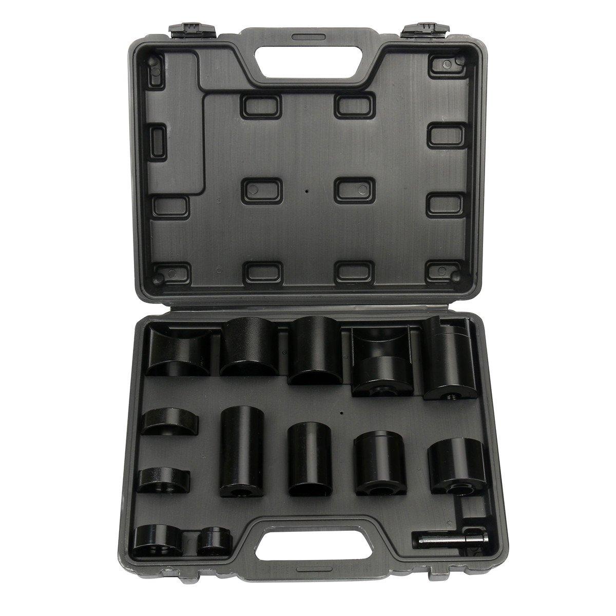 FreeTec, Drift Set, per pressa da officina, propellente per cuscinetti, accessori per trapano, adattatore di servizio per giunti sferici master, set per tutte le auto e camion, 14 pezzi freebirdtrading FT0147